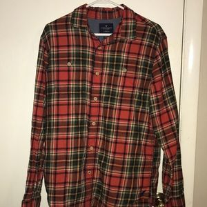 Orange and Green A&E Outfitters Flannel